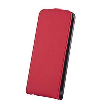Koženkové knižkové púzdro SLIGO Premium Flip Apple iPhone 5/5S/SE Červené
