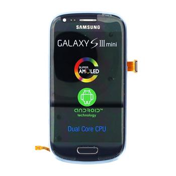 LCD display, Dotyk plus Přední kryt Samsung i8190 Galaxy S3mini Blue