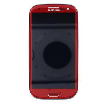 LCD display, Dotyk plus Přední kryt Samsung i9300 Galaxy S3 Red