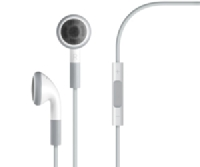 MB770G/A iPhone 3.5mm Stereo HF s ovl. White (Bulk)