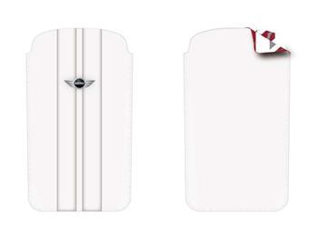 MNPUIPSTWH MiniCooper Kožené Pouzdro Stripes White