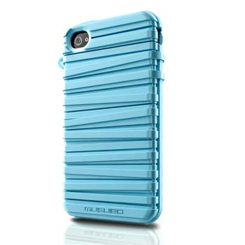 Musubo pouzdro Rubber pro Apple iPhone 4/4S Baby Blue (EU Blister)