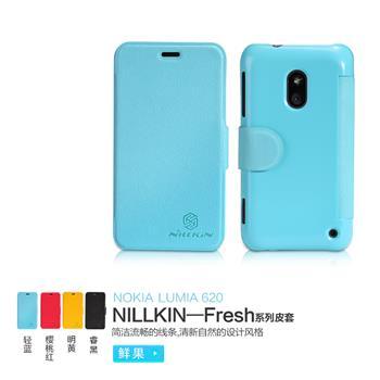 Nillkin Fresh Folio Pouzdro Cyan pro Nokia Lumia 620