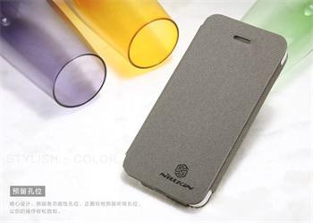 Nillkin New Stylish Flip Kožené Pouzdro Grey pro iPhone 5/5S