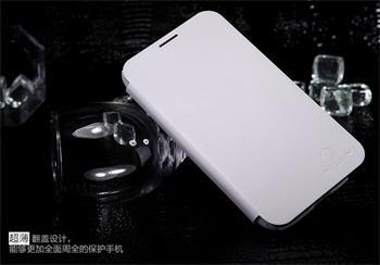 Nillkin Sheath Stylish Flip Kožené Pouzdro Biele pro Samsung N7100 Note2