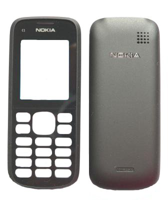 Nokia C1-02 Black Kryt Přední - Baterie