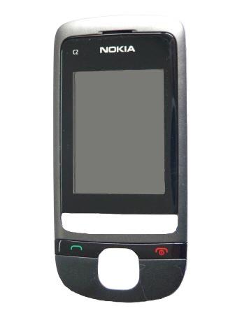 Nokia C2-05 Grey Přední Kryt