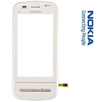 Nokia C6 White Přední Kryt vč. Dotyku OEM