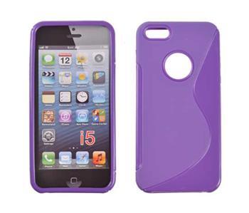 Puzdro gumené iPhone 4/4S fialove