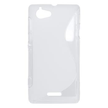 Puzdro gumené Sony Xperia L C2105 transparentné