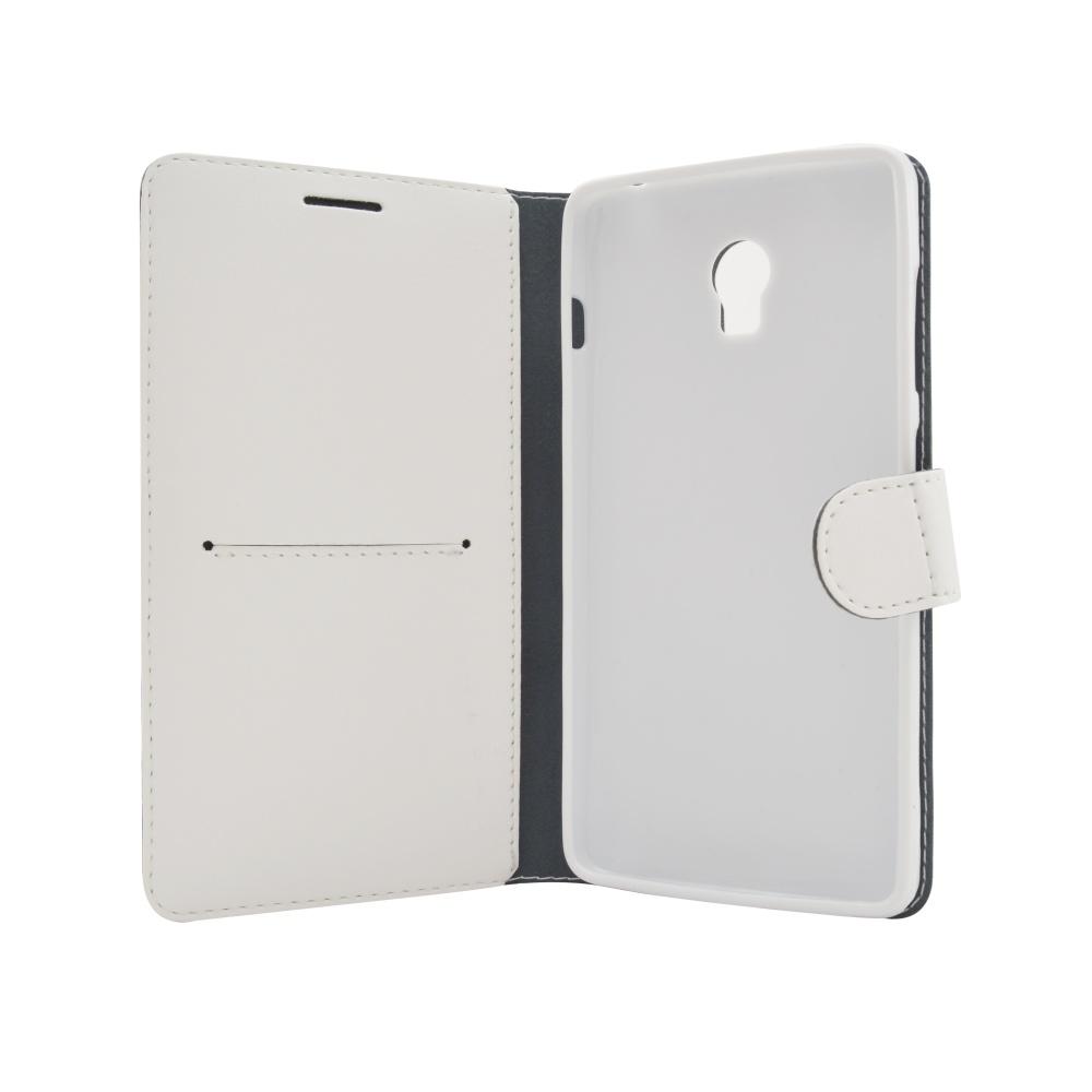 Puzdro Typu Kniha FIXED FIT Pre Lenovo P1 Biele