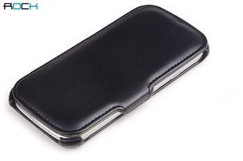 ROCK Dance Kožené Folio Pouzdro pro Samsung i9300 S3 Black