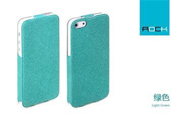 ROCK Eternal Kožené Flip Pouzdro pro iPhone 5, 5S Green