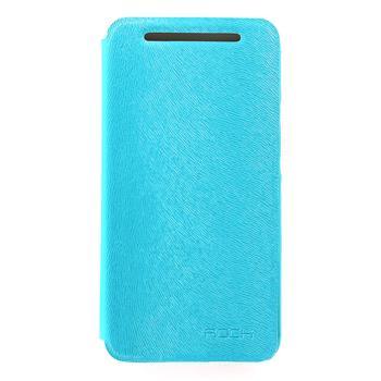 ROCK Flip Kožené Pouzdro pro HTC ONE/M7 Light Blue