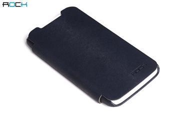 ROCK Flip Kožené Pouzdro pro HTC One X Dark Blue