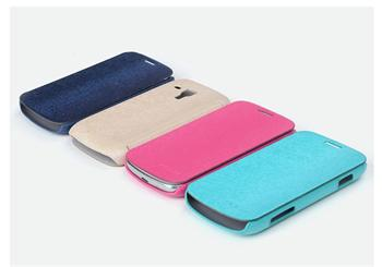 ROCK Flip Kožené Pouzdro pro Samsung S7562 Galaxy S Duos Light Blue