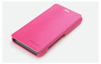 ROCK Flip Kožené Pouzdro pro Sony LT30t Xperia T Rose Red