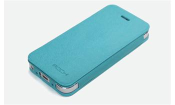 ROCK Textur Side Flip Kožené Pouzdro pro iPhone 5 Green