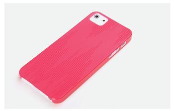 ROCK Texture Extra Tenký 0,5mm Zadní Kryt pro iPhone 5/5S/SE Rose Red