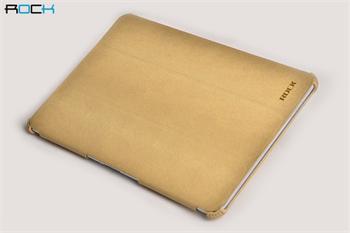 ROCK Texture Kožené Pouzdro Polohovací Cream pro Samsung P5100/P5110