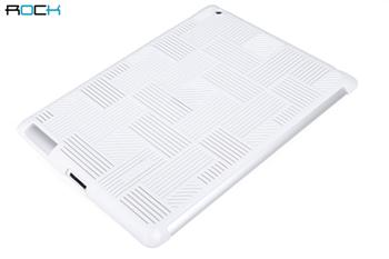 ROCK Wind Protective Shell Zadní Kryt pro iPad 2, iPad 3, the New iPad White