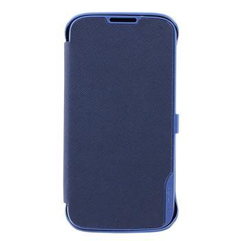 SAMS4CBL Made by Samsung Kožené Folio Pouzdro Modré pro S4 i9505 (EU Blister)