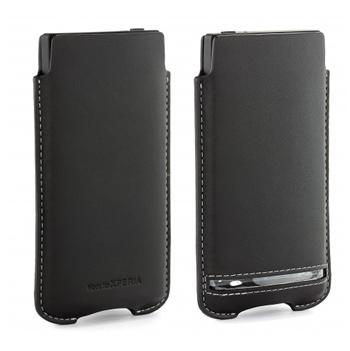 SMA3118B Sony Original Kožené Pouzdro pro Xperia S LT26i Black