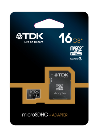 TDK microSDHC 16 GB Travelcard Class 4 + adaptér (t78724)