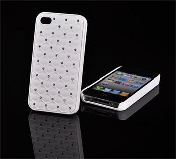 Tvrdé puzdro Diamond Samsung Galaxy Advance, i9070, Biely