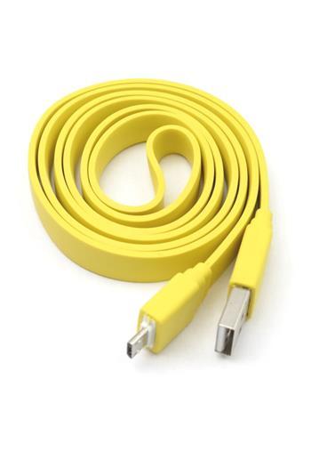 Universal Belt microUSB Datový Kabel Yellow (Bulk)