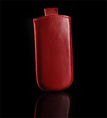 Vsuvka Pravá Koža Future Nokia Asha 302 Červená