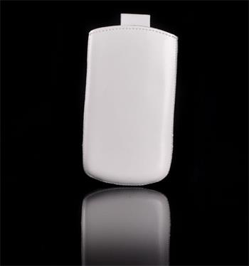 Vsuvka Pravá Koža Future Samsung i9300/i9500 Biele